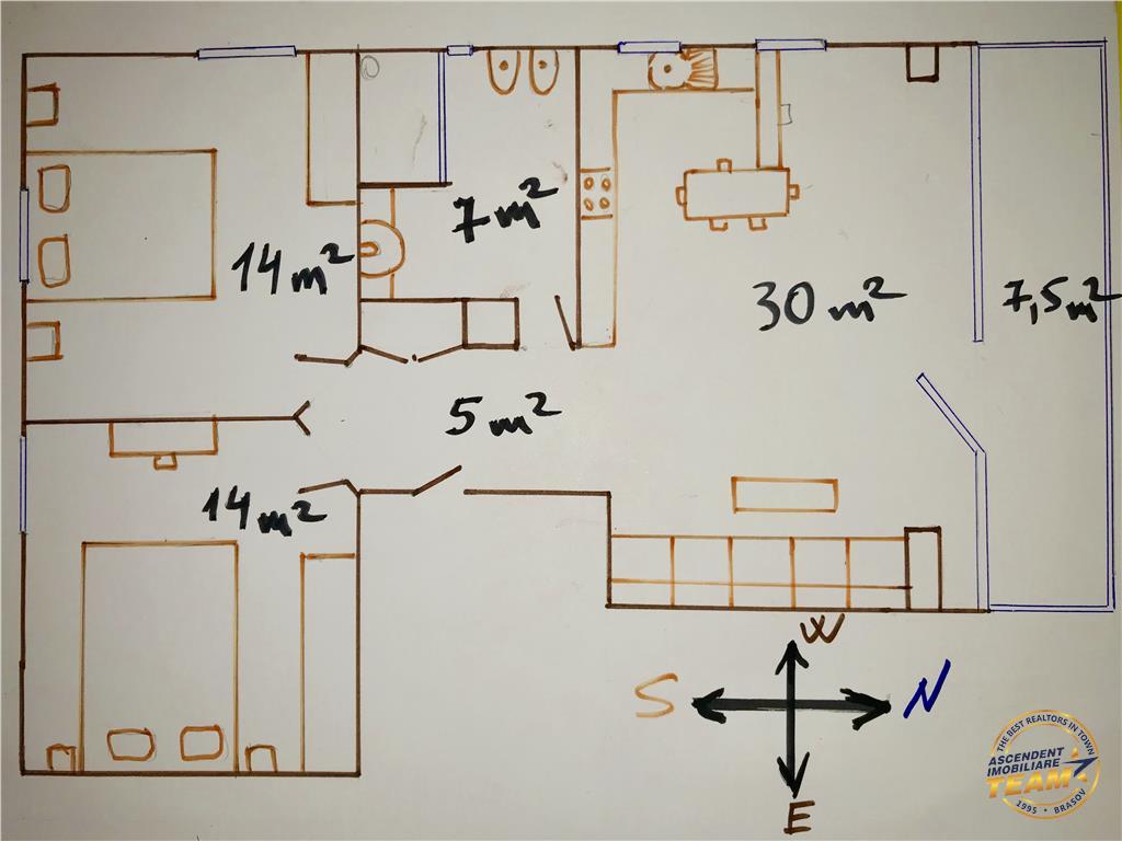 EXPLOREAZA VIRTUAL! Clasa LUX, constructie noua, terasa, Ultracentral, Brasov