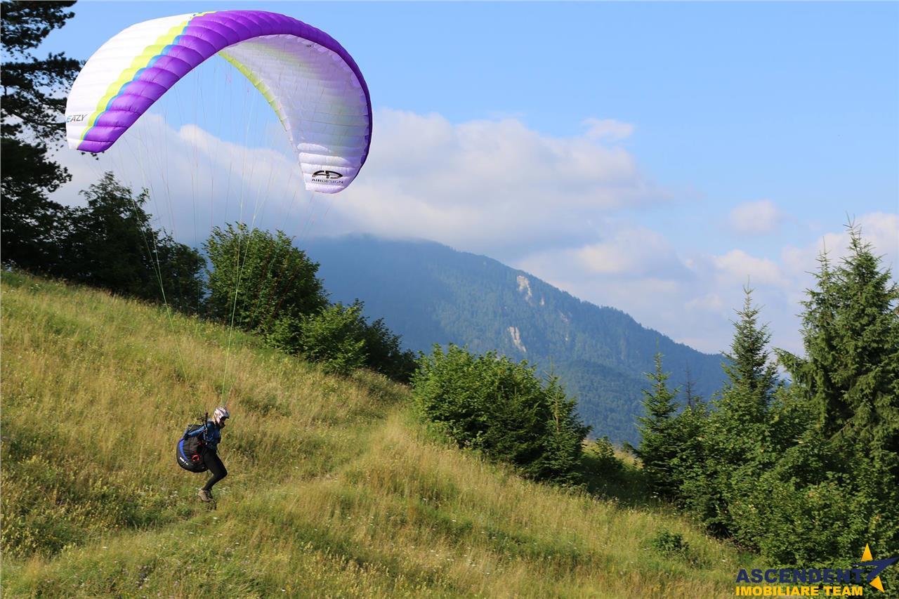 FILM! Panorama spectaculoasa, pe 1.500 mp teren intravilan, in taramul Dacic, Bunloc, Brasov
