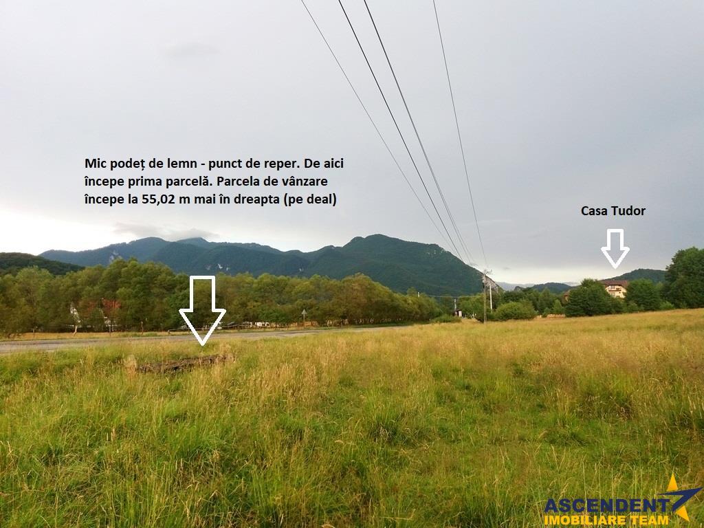 1.600 mp teren  la DN 73 A  in frumoasa zona turistica Rasnov   Paraul Rece