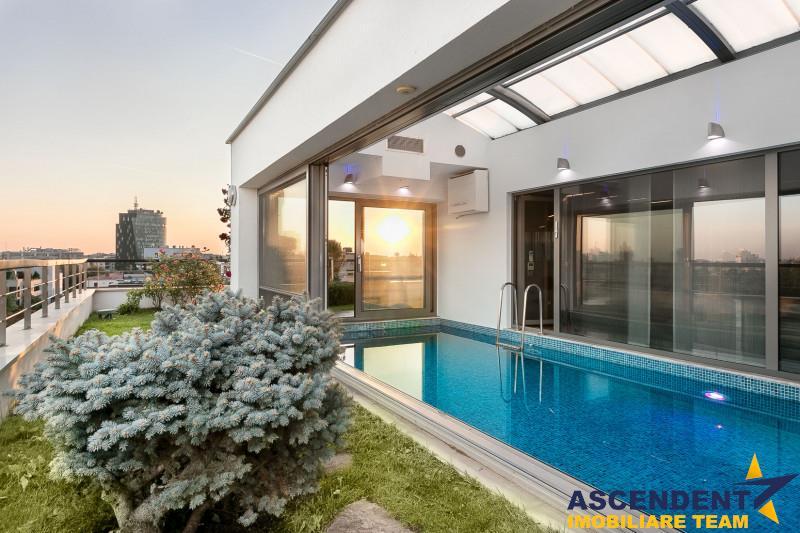 Penthouse cu piscina  si sauna, in cartierul Primaverii, Bucuresti