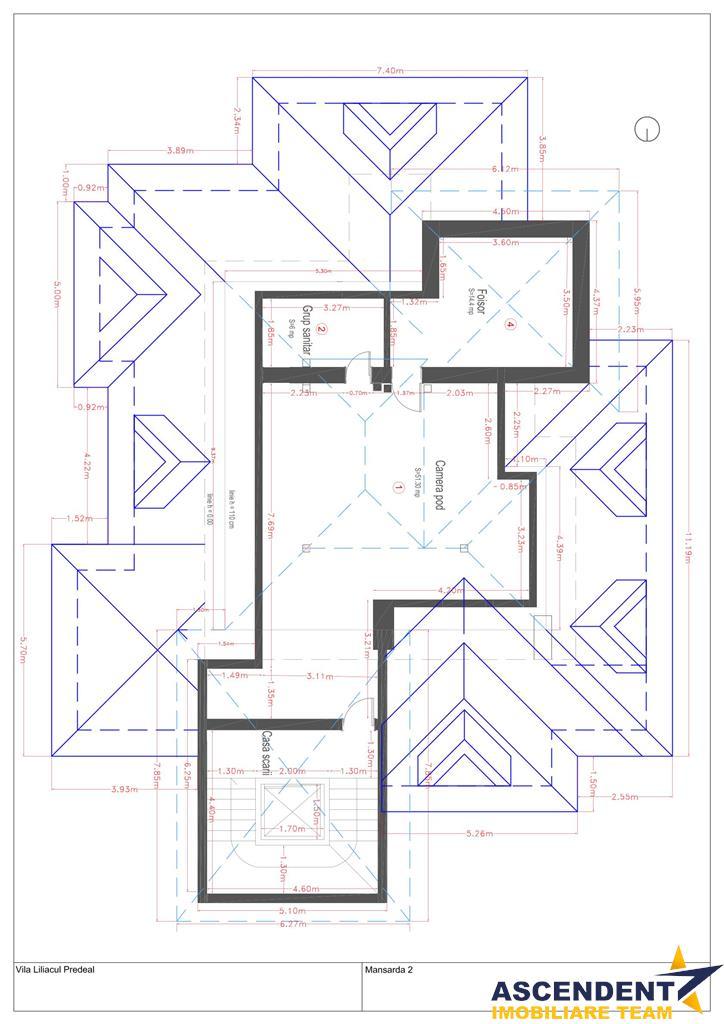 Proprietate clasa fortificata din pagina istorica a micii boierimi, Predeal,  Brasov