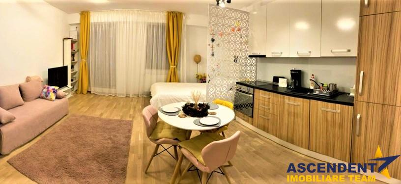 Studio mobilat si utilat, Season Residence, cu terasa generoasa
