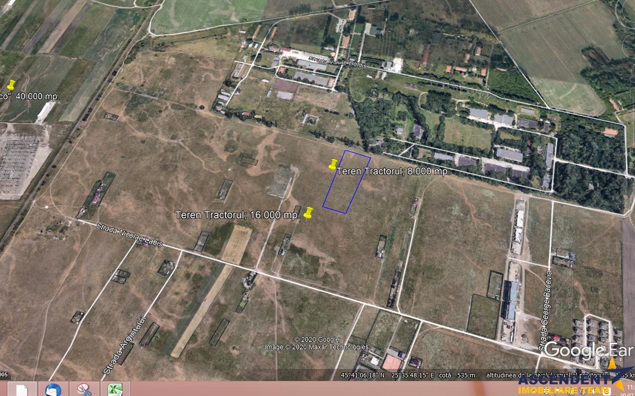 Peste 5.600 mp, teren Intravilan, pretabil si constructie blocuri, Tractorul, Brasov
