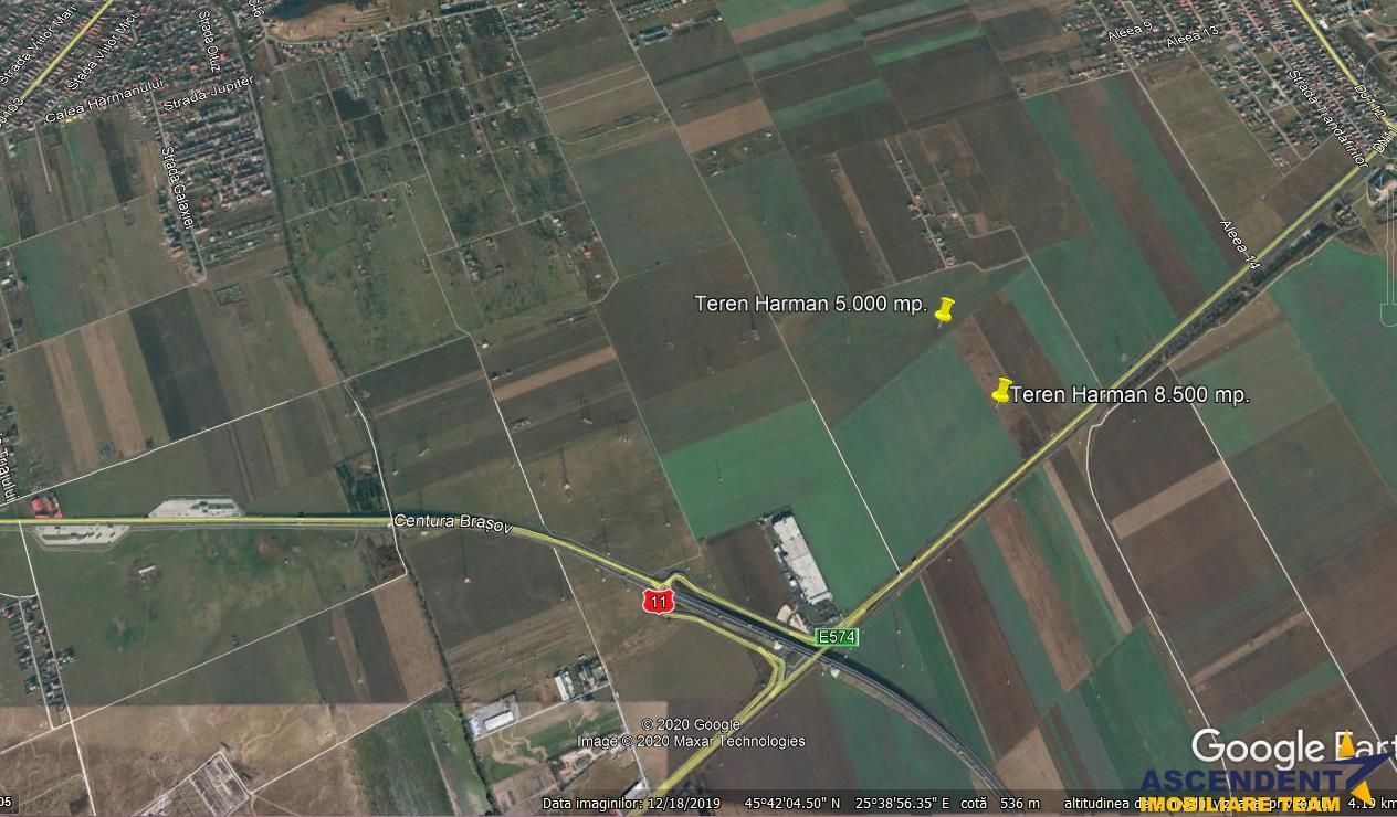 Teren pe  5.000 mp, Harman, Brasov