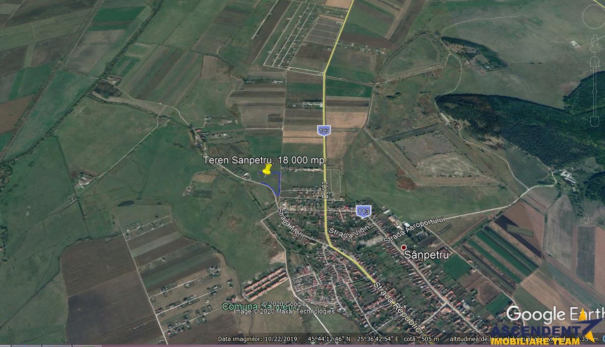 Teren Arabil neimprejmuit pe o suprafata de 18.500 mp, Sampetru, Brasov