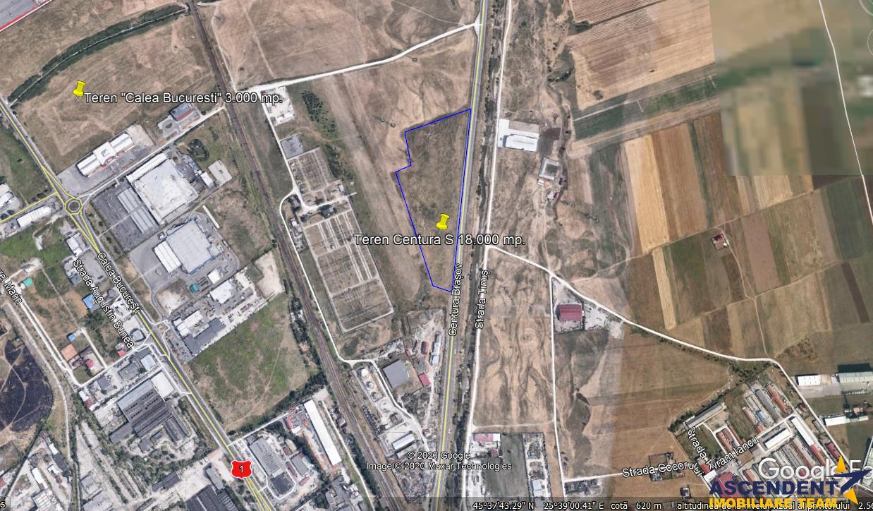 18.000 mp teren, pretabil constructie vile/ blocuri, Centura Brasovului Sud