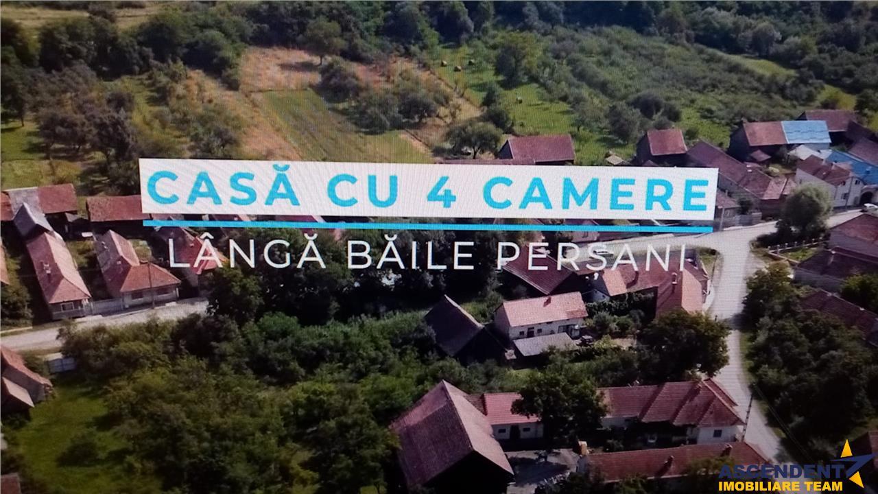 FILM! Casa cu 3.800 mp gradini, langa Baile Persani, Sinca Veche, Brasov