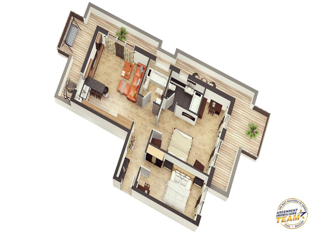 OFERTA TRANZACTIONATA!!!Vezi prezentare tridimensionala! Penthouse, Avantgarden,  Brasov