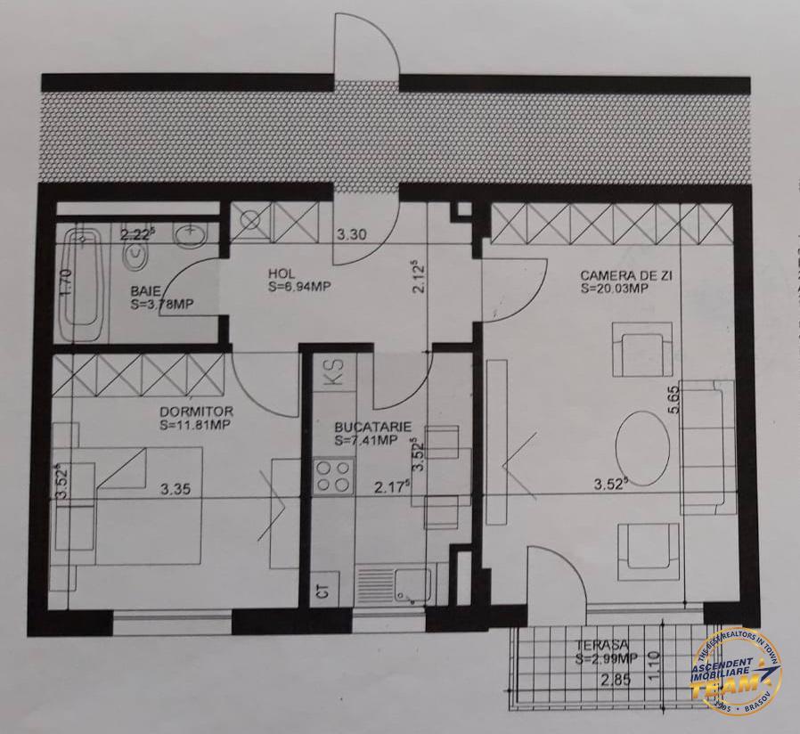 Proprietate constructie noua, gradina proprie de 30 mp, mobilata si utilata