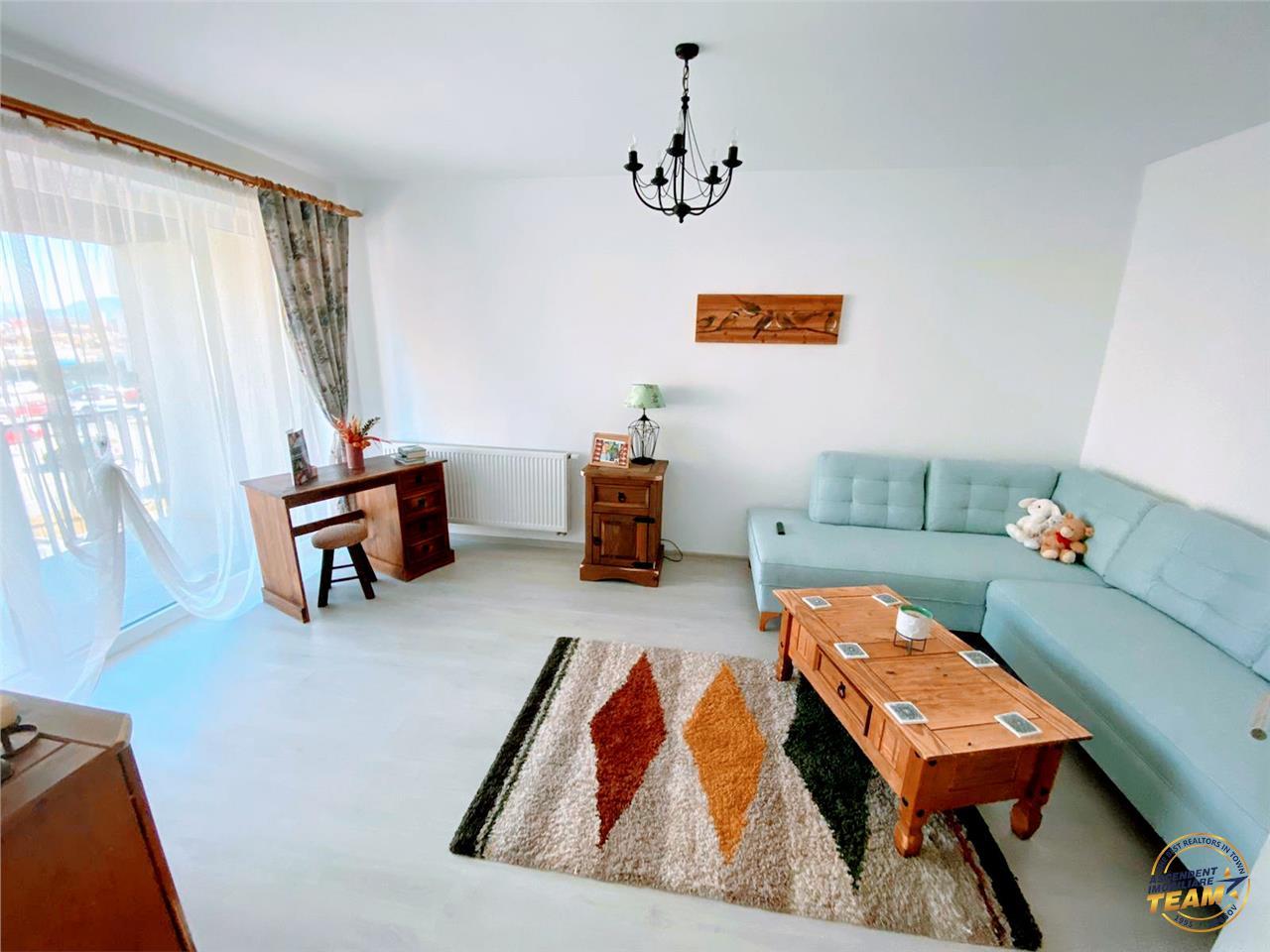Elegant apartament, pe doua camere, terasa, cartier rezidential Coresi