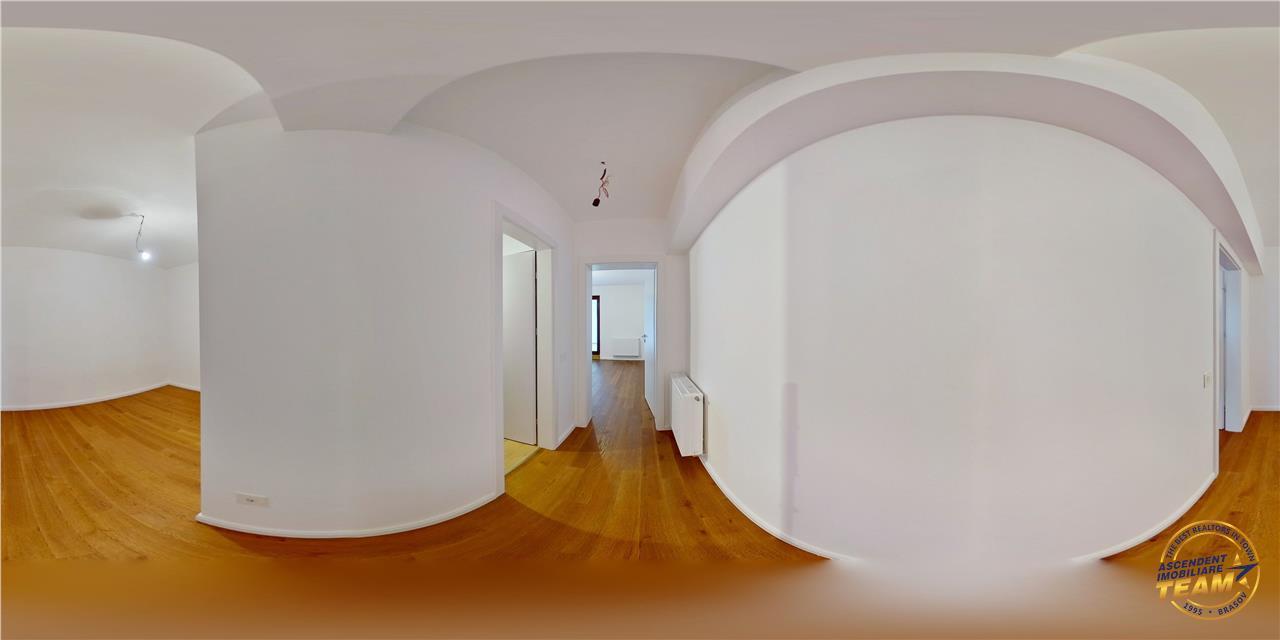 EXPLOREAZA VIRTUAL! Eleganta rezidentiala in aripa padurii,cu terasa proprie si curte interioara