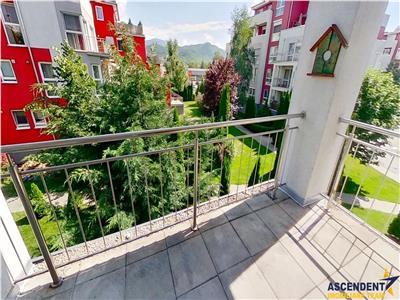 Proprietate pe 80 mp, cu terasa spectaculara, mobilata si utilata, Brasov