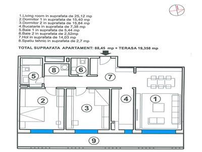 OFERTA  TRANZACTIONATA  !!!  Regim vila, segmentul LUX, cu terasa, pozitionare panoramica, Central