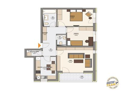 Insorit apartament, 2 camere
